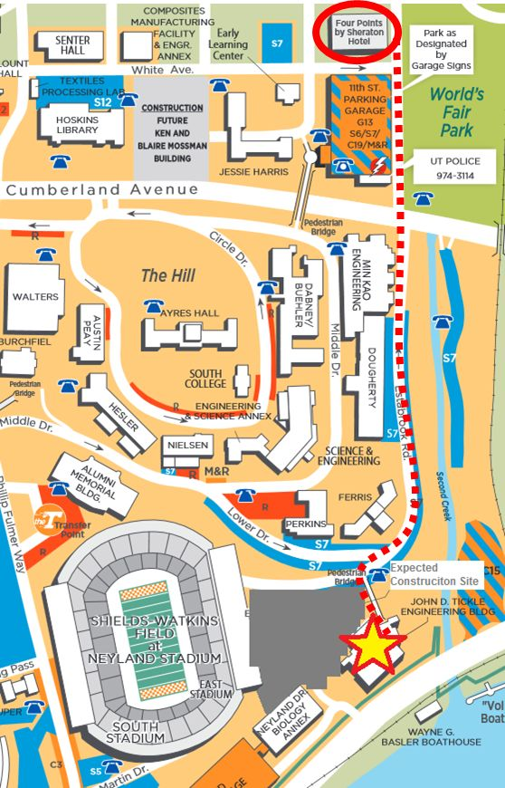 University Of Tennessee Knoxville Campus Map.Utk Campus Map Www Picswe Com